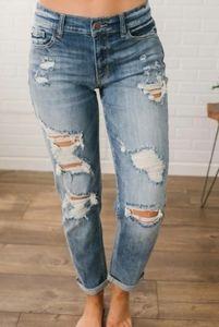 Judy Blue Plus Destroyed Boyfriend Jeans